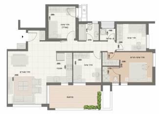 דירת 5 חדרים דגם B