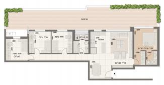 דירת 5 חדרים מדורגת דגם M1