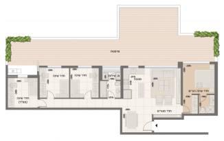 דירת 5 חדרים מדורגת דגם M2