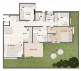 דירת גן 5 חדרים דגם B