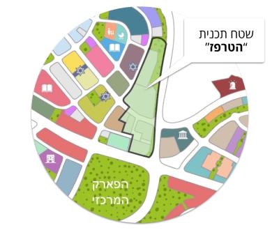 מפת שטח תכנית הטרפז בחריש