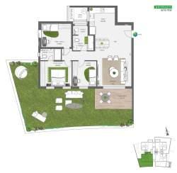 דירת גן 4 חדרים | על הפארק בחריש חנן מור