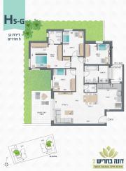 דונה בחריש 2 | דירת גן 5 חדרים דגם H5-G
