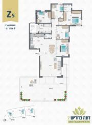 דונה בחריש 2 | פנטהאוז 6 חדרים דגם Z5