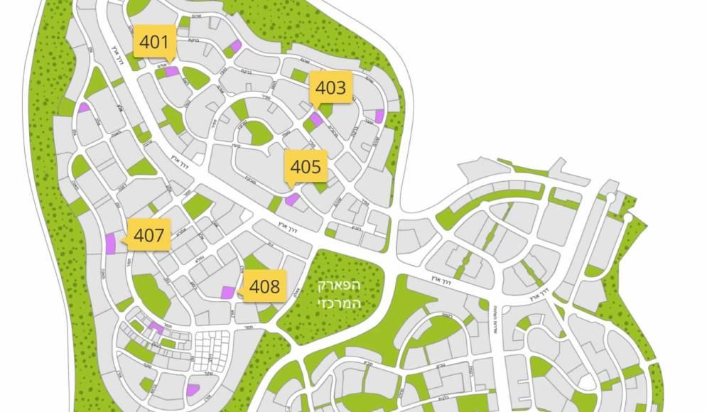 מפת המרכזים המסחריים השכונתיים שייפתחו ב 2018