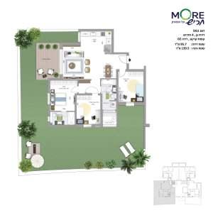 MORE חריש | דגם DG1 דירת גן, 4 חדרים