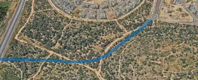 תוואי כביש 611 העתידי - כביש הגישה הדרומי לחריש