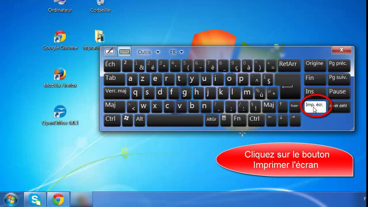 Comment Faire Une Impression Ecran Sur Windows 7