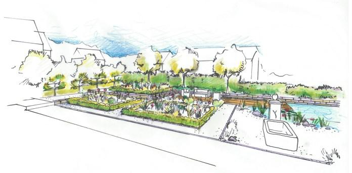 Visualisierung Seitenansicht Bauerngarten