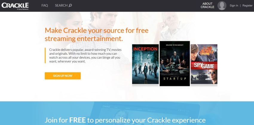 Crackle Free movie streaming