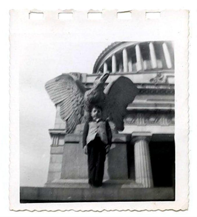 john c in front on grants tomb