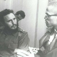 Fidel Castro And Malcolm X At The Hotel Theresa, Harlem NY 1960