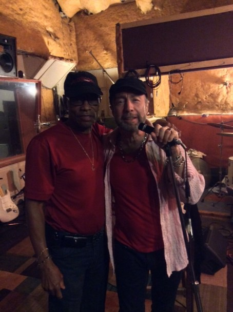 Musician Reverend Charles Hodges Sr and Paul Rodgers recording at Royal Studios (left to right)_Courtesy PaulRodgers.com