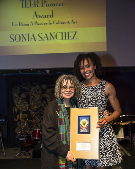 Sonia Sanchez and guest Courtesy of National Black Theatre