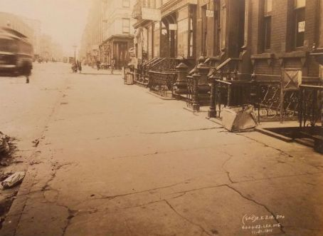 1911 PHOTO E III & Lexington HARLEM Hole SUBWAY NYC New York City
