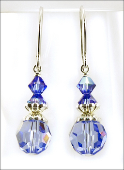 Blue As Can Be Earrings With Sapphire Swarovski Crystal