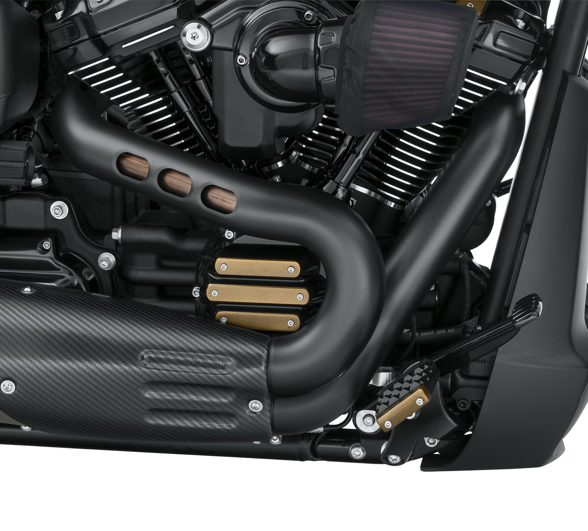 satin black exhaust shield kit