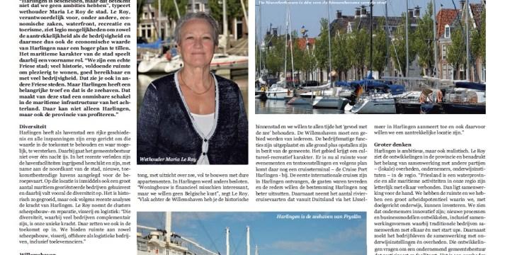 Harlingen is met haar havens realistisch en ambitieus