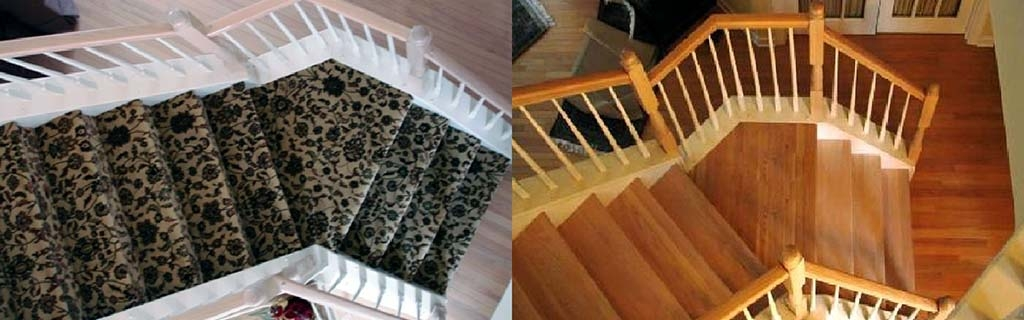 Staircase Refacing Harman Hardwood Flooring Co | Engineered Hardwood Stair Treads | Bullnose | Platform | Engineered Hardwood | Interior | Luxury Vinyl