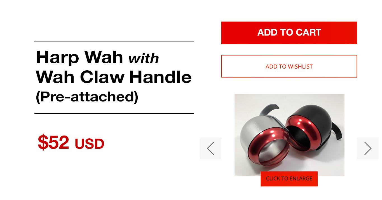 HARP WAH + WAH CLAW handle (Combo)