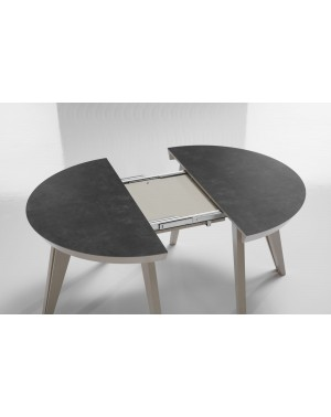 table ronde extensible allonges incorporees
