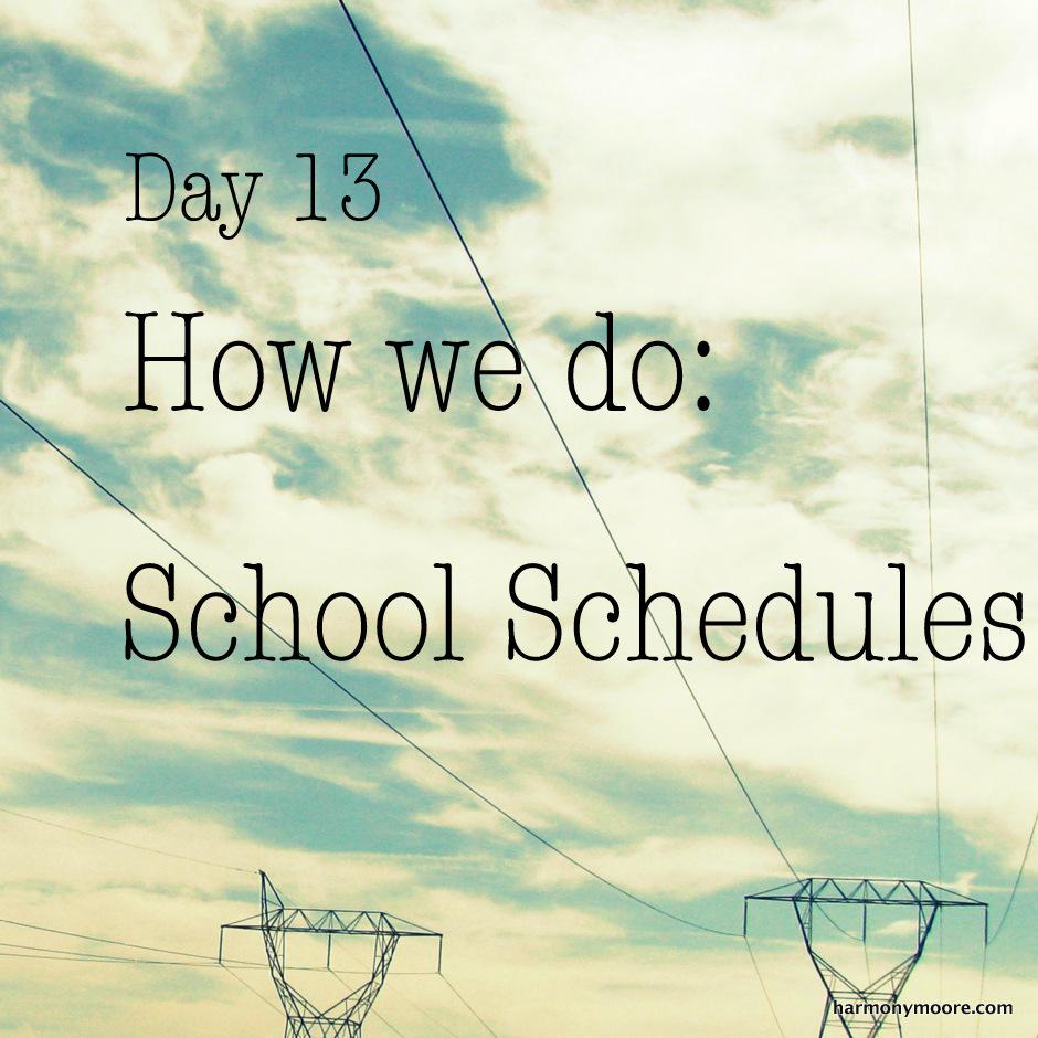 make school schedule online