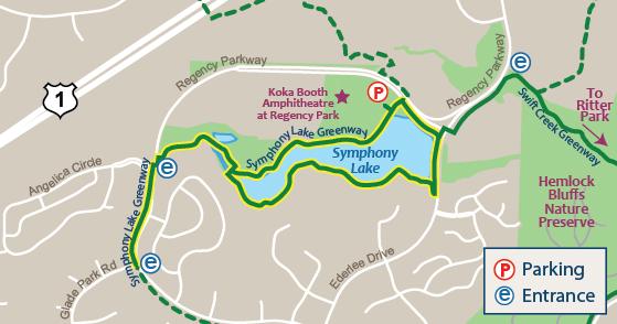 symphony lake greenway cary nc
