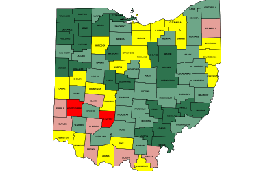 Ohio's Unequal Epidemic: Where overdose death rates are highest and lowest?
