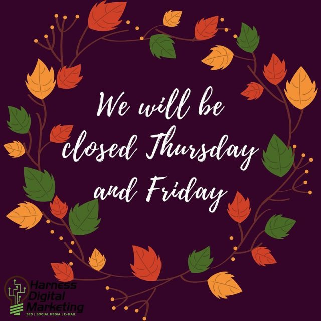 HDM will be closed Thanksgiving Weekend Have a wonderful holiday!hellip