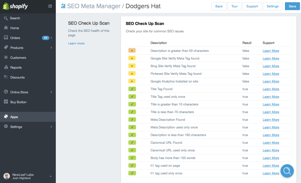 shopify seo manager app