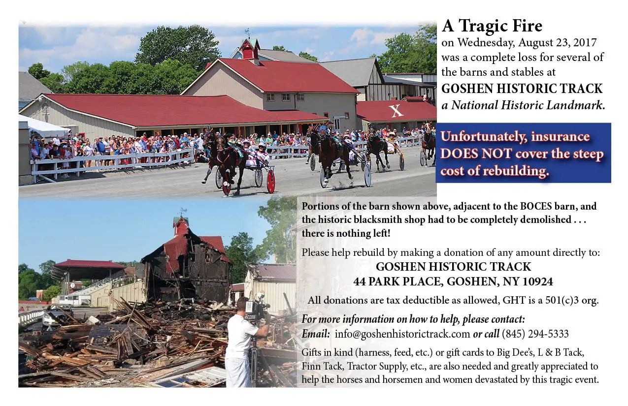 Fire Donation GHT?fit=1275%2C825 fire at goshen historic track destroys barn harness racing update barn to wire harness at edmiracle.co