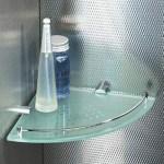 Glass shower shelves