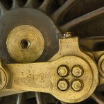 Train Wheel Brass