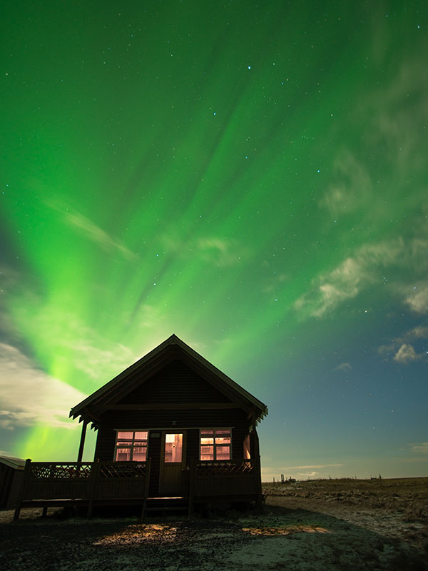 Northern Lights Above our Rental Cabin