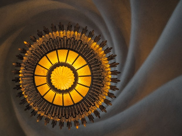 Nautilus Sculpted Ceiling and Light Fixture