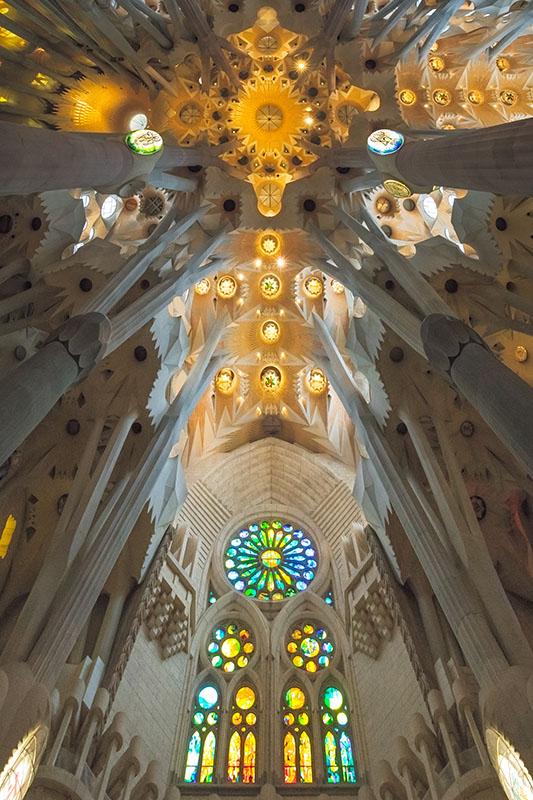 La Sagrada Familia Ceiling Panorama