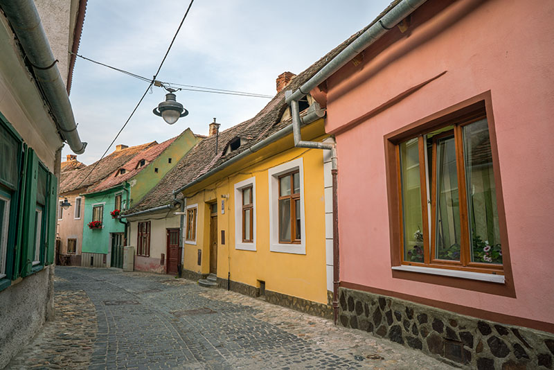 Sibiu Colorful Street