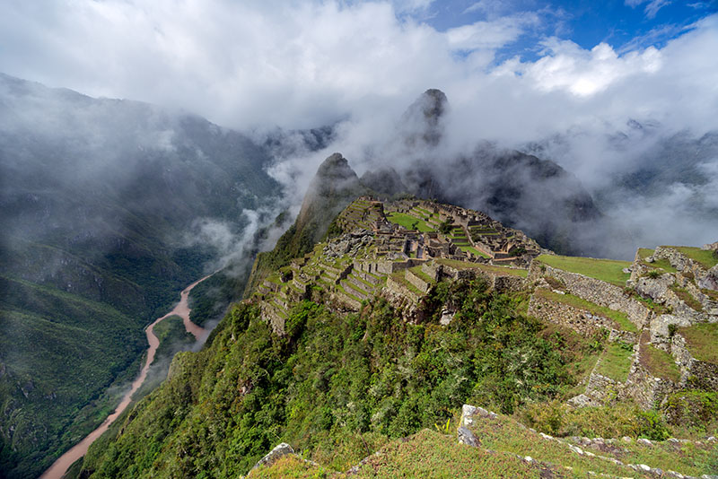 Machu Picchu in the rainy season