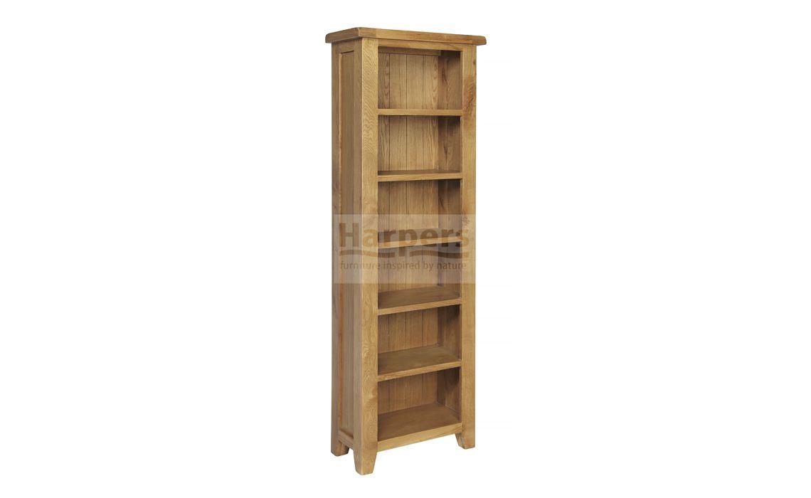 Essex Rustic Oak Tall Slim Bookcase