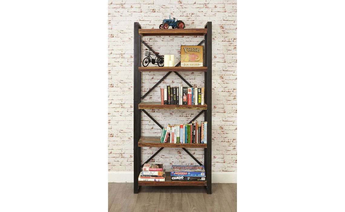Mali Reclaimed Pine Large Open Bookcase