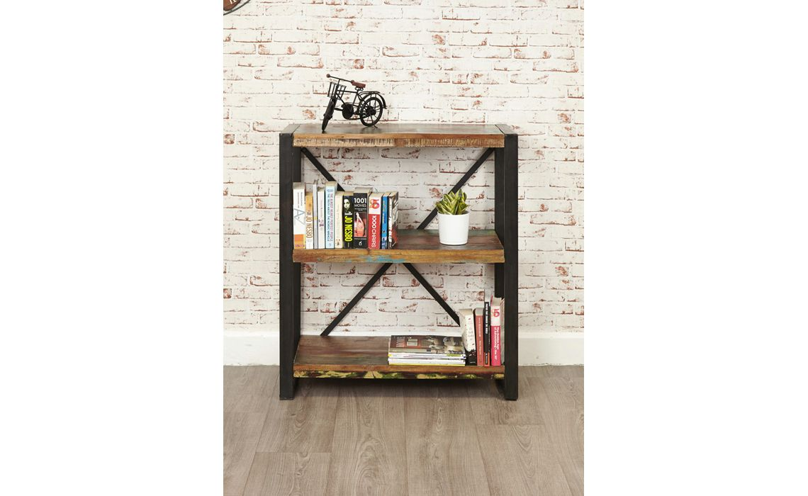 Mali Reclaimed Pine Low Bookcase