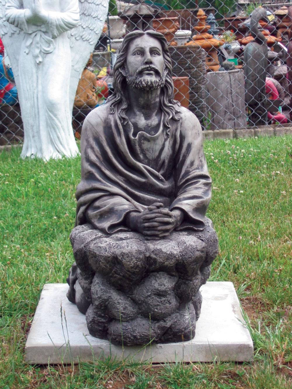 Harper S Statuary Amp Water Gardens Kneeling Jesus