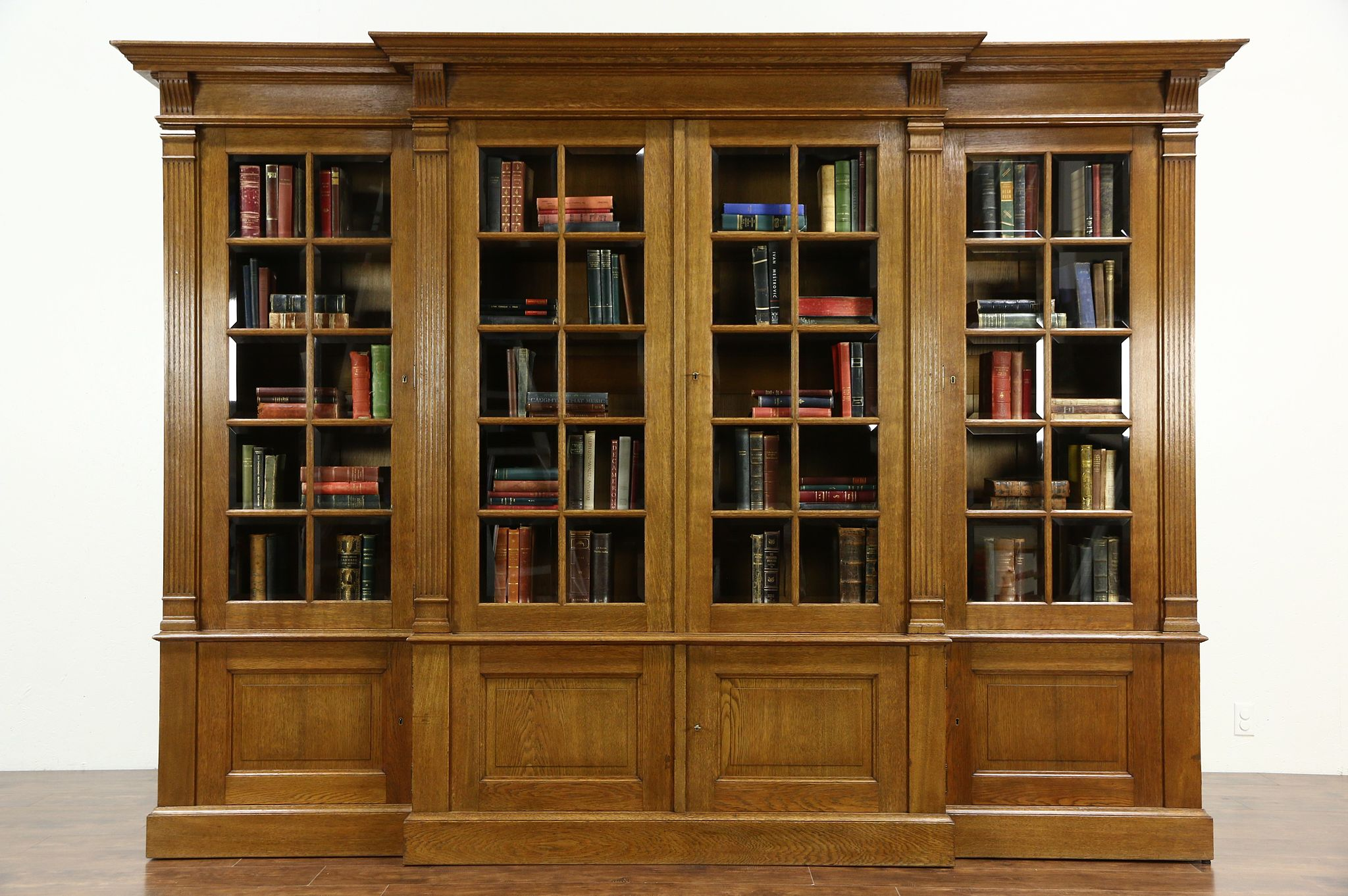 SOLD French Oak 1920s Antique 10 Library Bookcase
