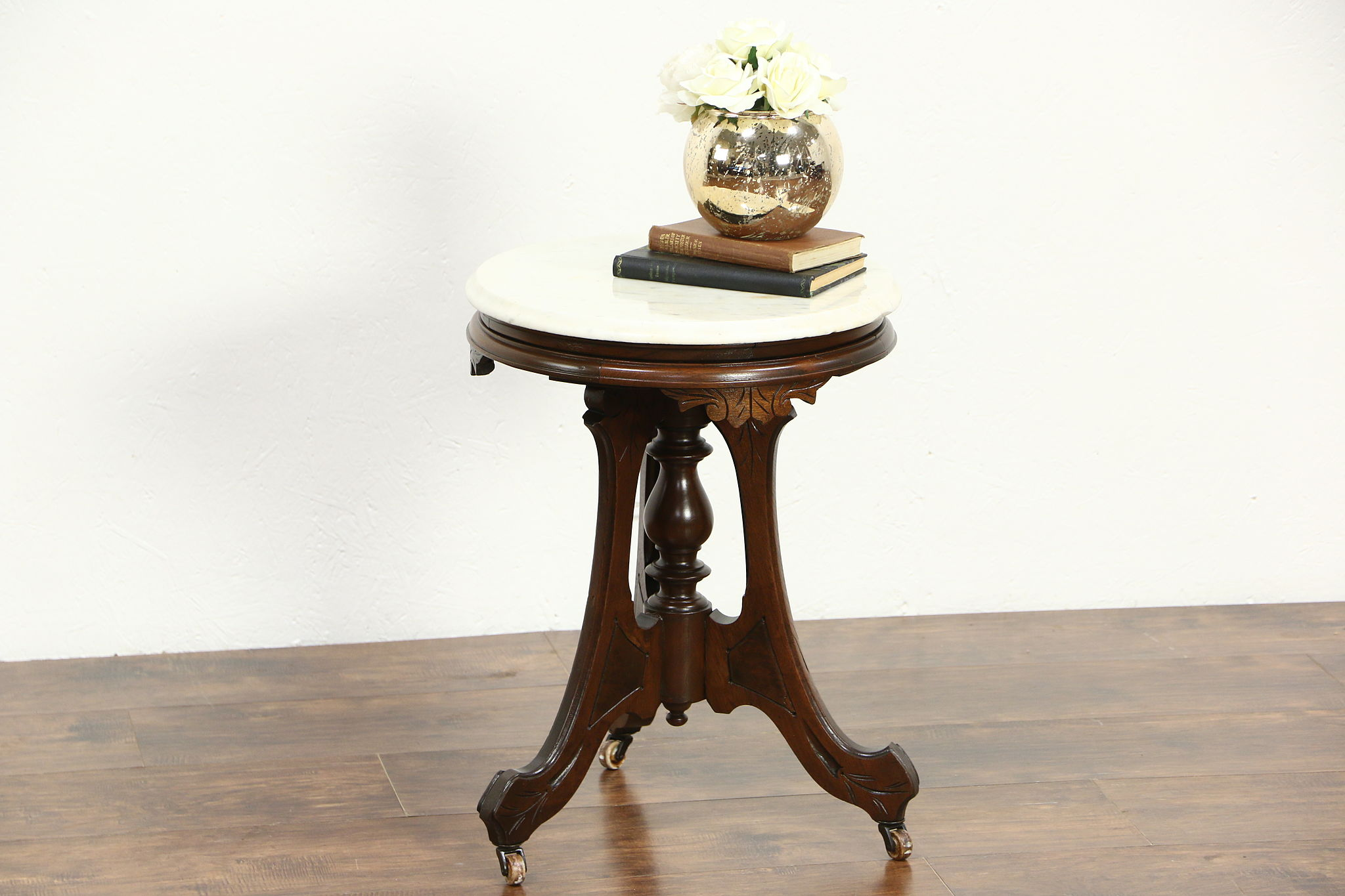 Sold Victorian 1880 S Antique Round Chairside Table Or