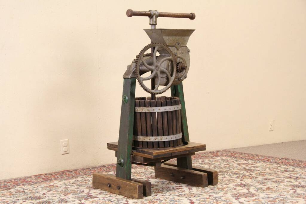 SOLD Wine Cider Or Juice Press Iron Amp Wood 1900s