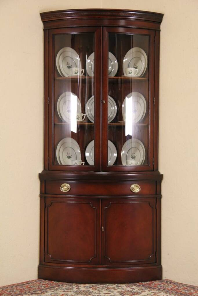 SOLD Drexel Travis Court Mahogany 1950s Vintage Curved
