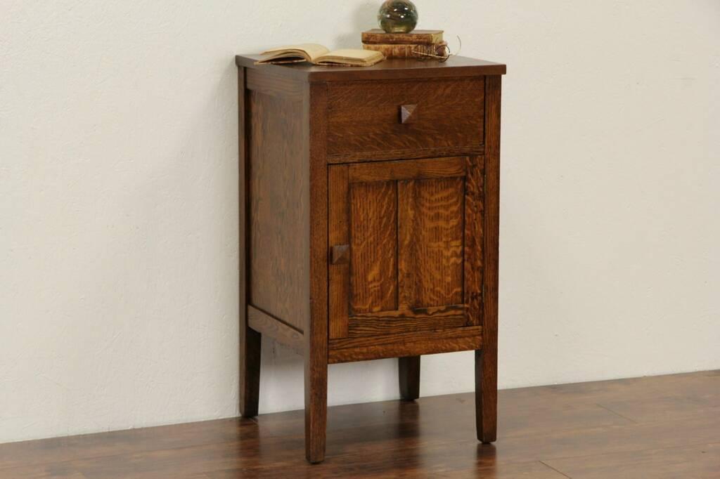SOLD Arts Amp Crafts Mission Oak 1910 Antique Nightstand