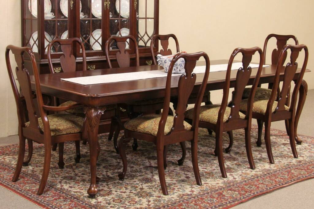 SOLD Knob Creek Cherry 1992 Vintage Dining Set Table