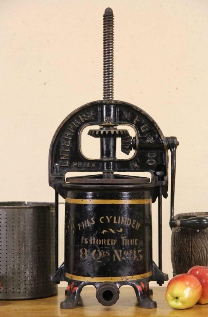 SOLD Enterprise Philadelphia Iron 1890s Antique Wine Or Juice Press Harp Gallery Antique