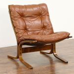 Sold Midcentury Modern 1960 Vintage Tufted Leather Chair Made In Norway Harp Gallery Antiques Furniture